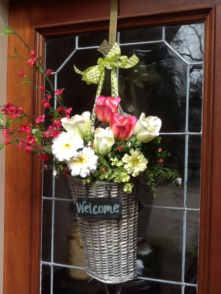 spring front door wreath home and garden pinterest