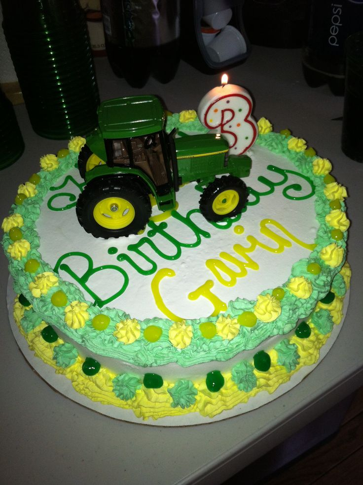 Images Of Tractor Birthday Cake : Tractor Themed Birthday Cake Finished Projects Pinterest