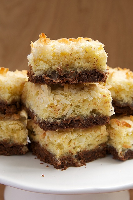 Coconut Bars with Chocolate Shortbread Crust by bakeorbreak, via ...