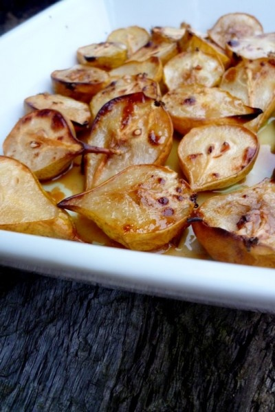 Cinnamon and olive oil roasted pears | My recipe | Pinterest