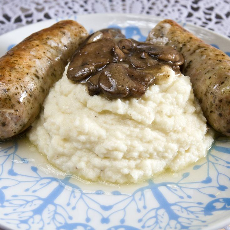 Healthier Bangers and Mash | Pork - Dinner Sausage | Pinterest