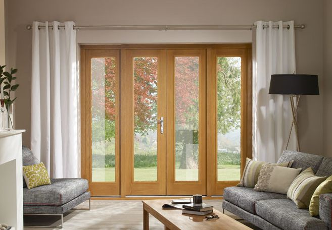 Oak french doors homes pinterest for French doors both open