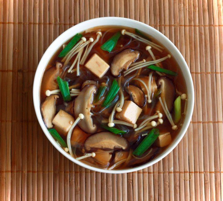 ... miso, mirin, sake + tofu, shiitake mushroom, enoki mushroom