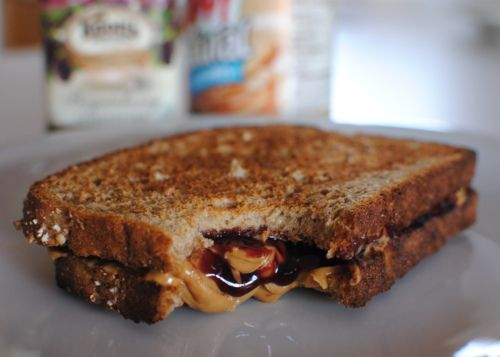 Grilled peanut butter and jelly sandwich. I loved these when I was a ...