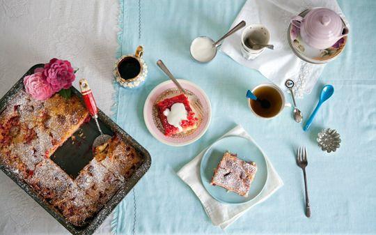 Big Pink Rhubarb Cake | sweets | Pinterest