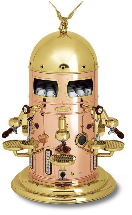 Awesome steampunk coffee machine  steampunk  Pinterest -> Kaffeemaschine Italien