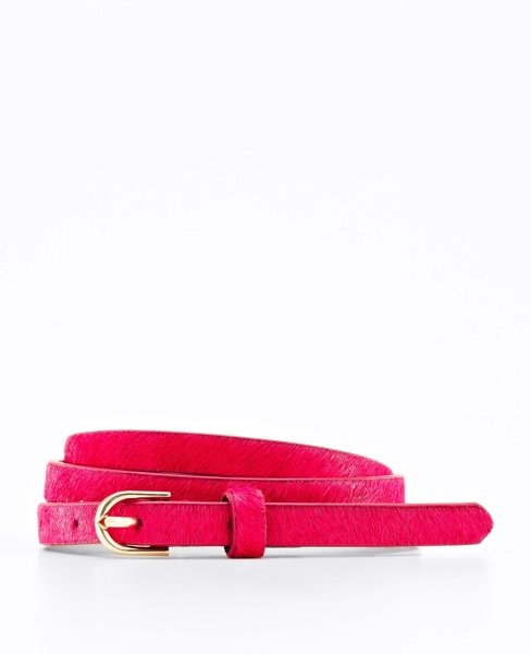 Ann Taylor - Haircalf Skinny Belt in Hypnotic Pink - $44