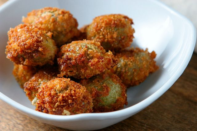 Spicy Cheese-Stuffed Fried Olives Recipe — Dishmaps