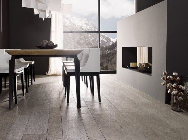 Carrelage imitation parquet gris living pinterest for Carrelage parquet gris