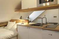 Pin by beatrice on appart pinterest - Amenagement studette 10m2 ...