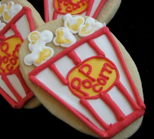 popcorn cookie tutorial | Cookie Dreams and Fantasies | Pinterest