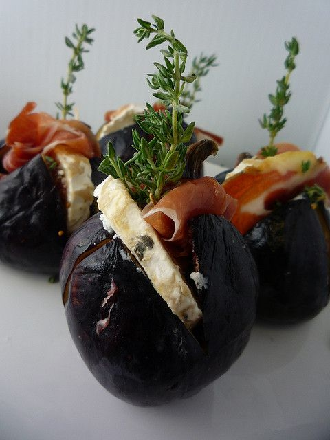 Figs Baked with Serano Ham , Goats Cheese & Thyme by Girl Interrupted ...