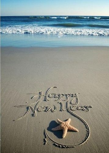 Happy New Year. We always celebrate at the beach; watch the old year go out and new come in!