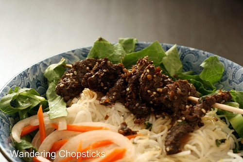 ... Thit Nai Nuong Xa (Vietnamese Noodles with Grilled Lemongrass Venison