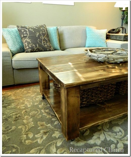 Do It Yourself Rustic Coffee Table Woodworking Projects