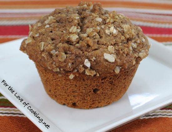 Spiced apple cider muffins with streusel topping - wish I was eating ...
