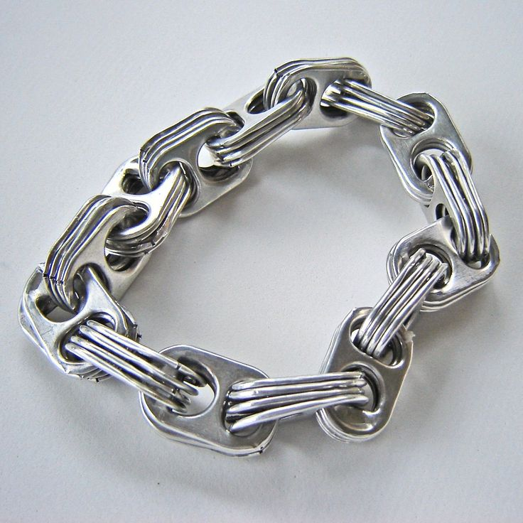 reserved aluminum can pop tab chain bracelet for tif