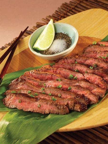 Grilled Asian BBQ flank steak | Hawaii Recipes | Pinterest
