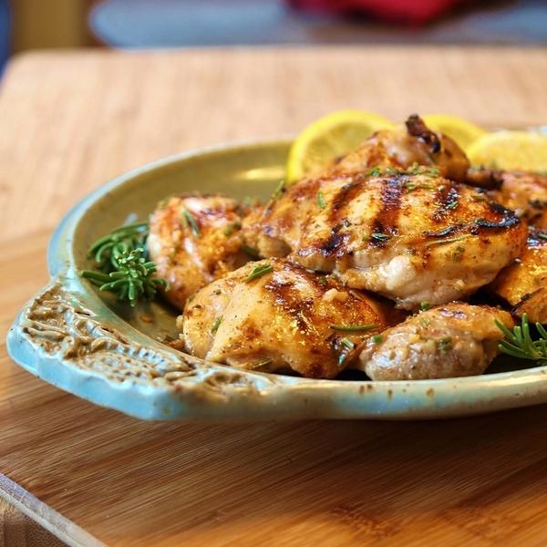 Lemon Rosemary Grilled Chicken dinner | My favorite pins | Pinterest