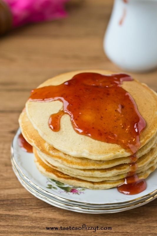 Peanut Butter and Jelly Pancakes The classic sandwich in yummy pancake ...