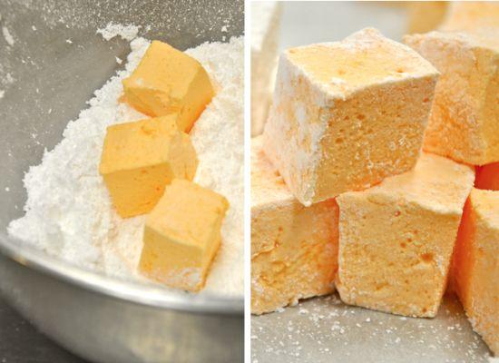 homemade orange marshmallows