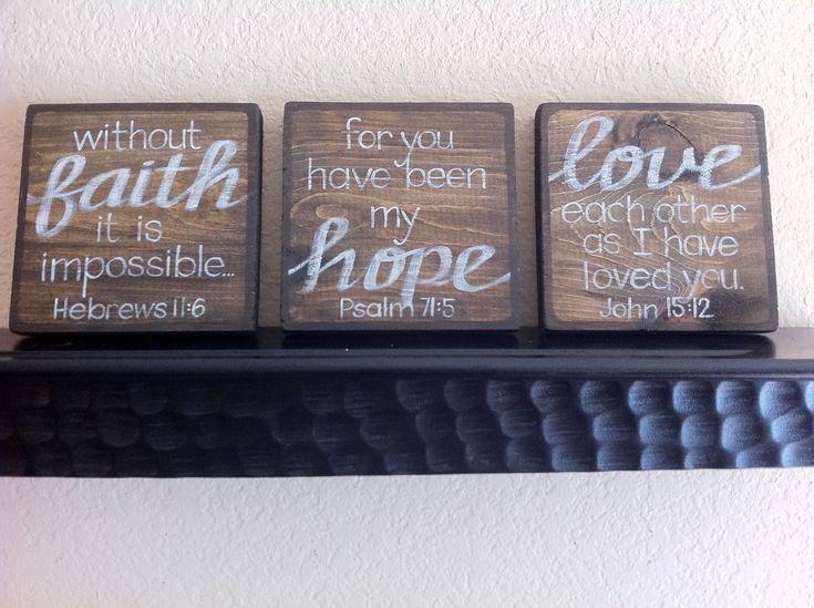 Scripture art home decor wall art faith hope love for Faith decor
