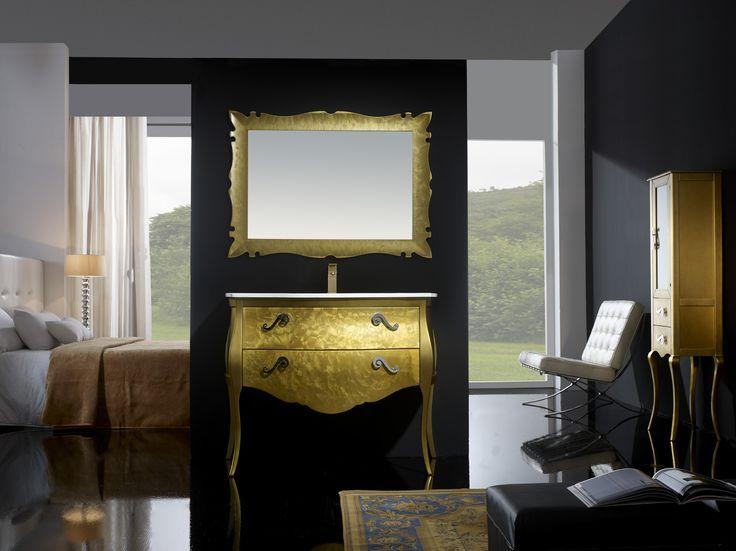 Muebles De Baño Estilo Neoclasico:Mueble de baño París Oro