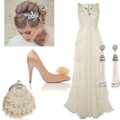 Une tenue de mariée vintage chic  Robes et accessoires de Mariée ...