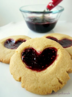 Peanut Butter and Jam Heart Cookies | Indulge | Pinterest