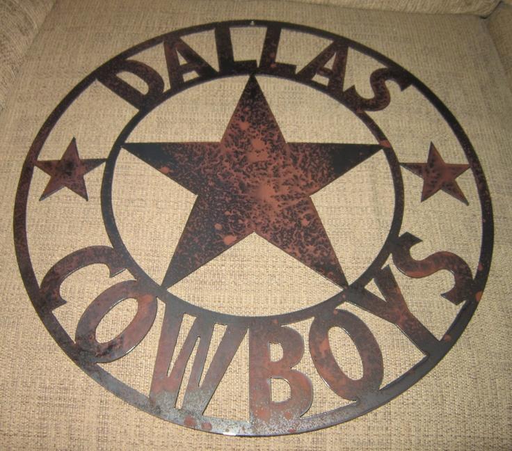 Dallas Sports Sign Metal Art Cowboys Texas Home Decor