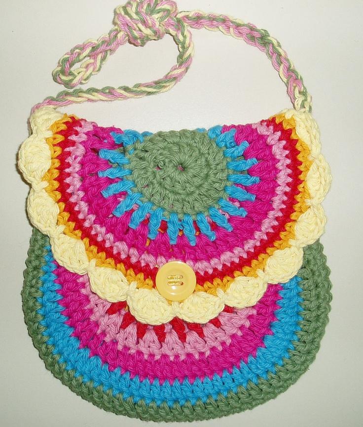 Rainbow Crochet Bag : rainbows