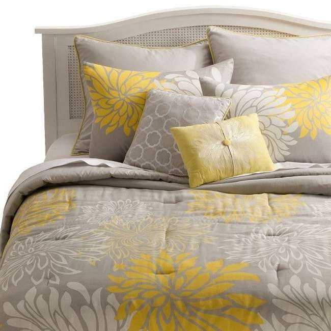 Gray Yellow Quilt Target : Yellow and grey bedding target