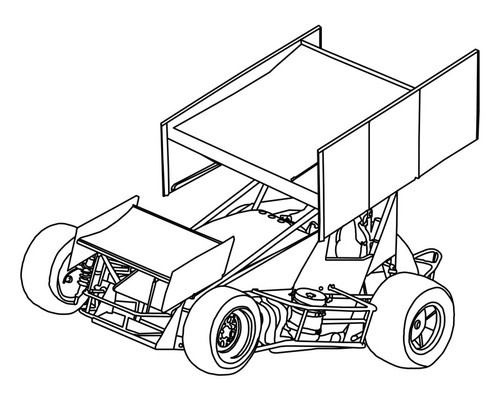 dirt sprint car coloring pages - photo#16
