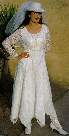 Pin by brenda sowers on western wedding gowns etc for Western wedding dresses for womens