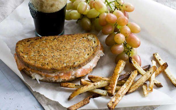 Smoked-Salmon-Reuben Panini | Yummy! | Pinterest