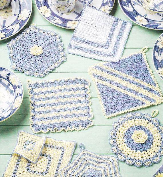 Vintage Potholders Crochet Patterns Booklet - 12 Antique-Inspired Des ...