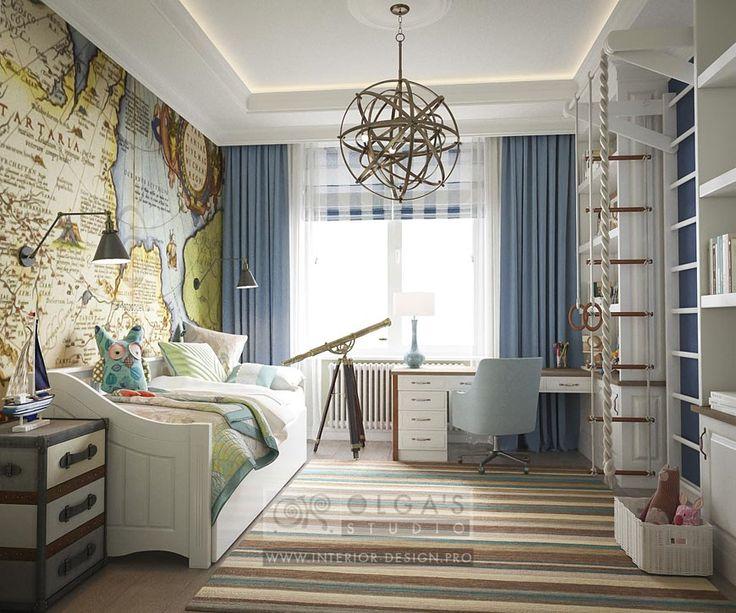 Дизайн комнаты для мальчика с лондоном