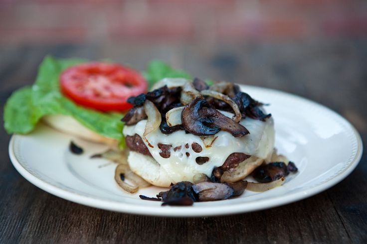 Grilled Mushroom Swiss Burgers made by @Angie McGowan (Eclectic ...