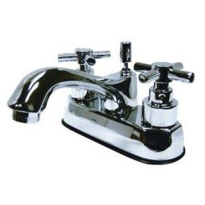 ... + Elinvar Metro 4-Inch Centerset Lavatory Faucet, Polished Chrome