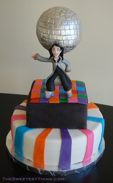 Disco Cake and Cupcakes by TheSweetestThingCS, via Flickr