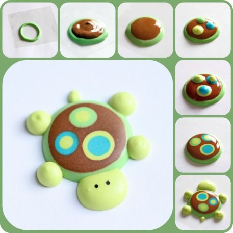 How To: Turtle-Cupcake Topper--sweetopia.net