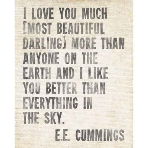 cummings Quotes and Sayings Pinterest