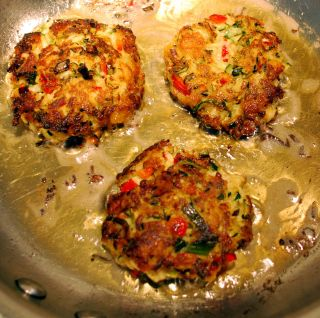Zucchini Faux-Crab Cakes (2 cups coarsely grated zucchini, salt, 1 cup ...