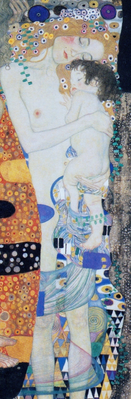 This is a section of  quot The three ages of a woman quot   by Gustav KlimtKlimt Three Ages Of Woman