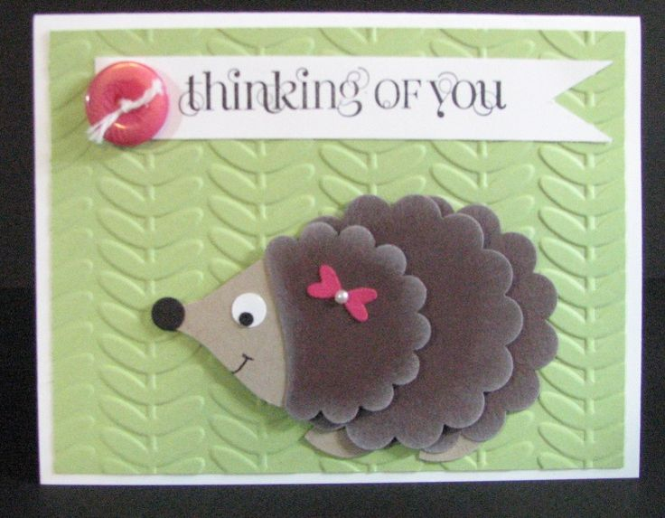 Stampin' Up! Punch Art Hedgehog