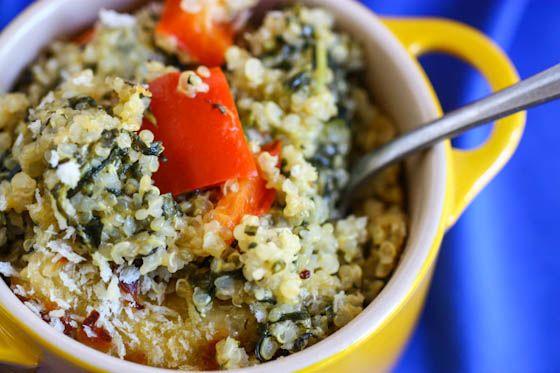 spinach and cheese quinoa casserole