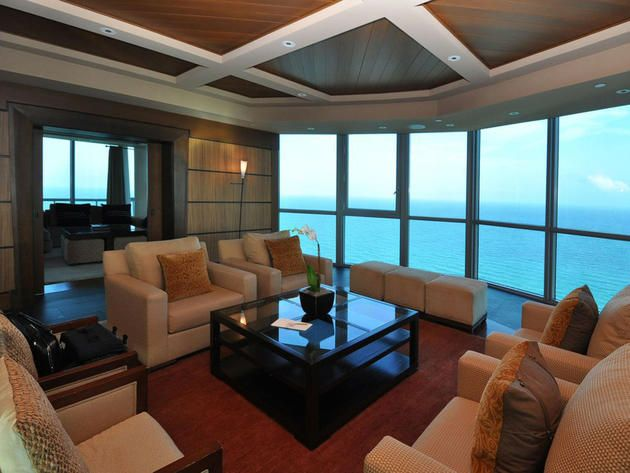 living room luxury penthouse at the setai miami beach