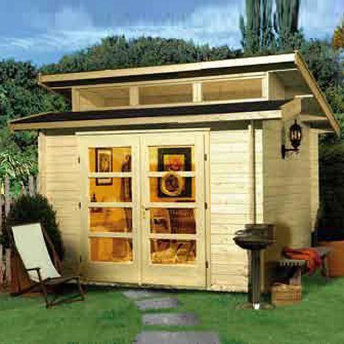 creer un bureau dans son jardin abri de jardin pinterest. Black Bedroom Furniture Sets. Home Design Ideas