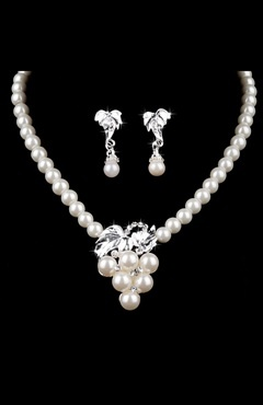 Wedding Party Prom Set Pearls Earrings #Necklace Style Code: 08027 $19.9