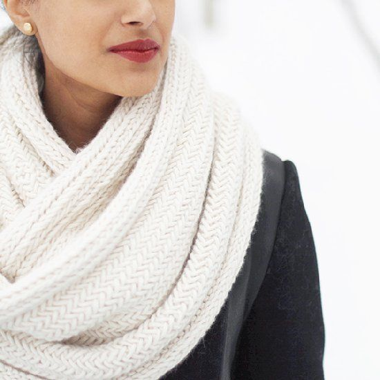 Knitting Pattern For Herringbone Scarf : Knitted Herringbone Scarf Pattern crochet tricot Pinterest